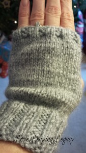 My Christmas gift from Lady L. Did you know she taught herself to knit?