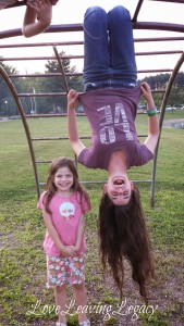 Family Monkey Bar Hanging Contest: Whose Hair Will Touch The Ground?
