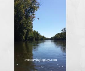 down-river