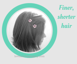 FIner shorter hair