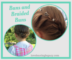 buns and braided buns